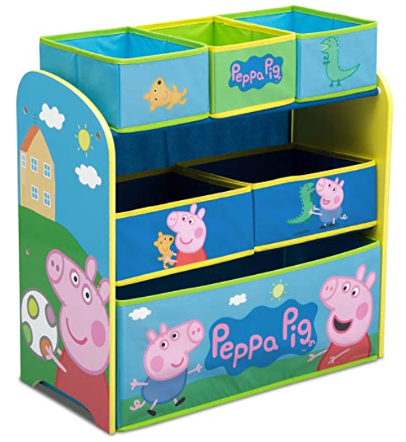 Peppa Pig Delta children 6 - Bin Toy Storage Organizer