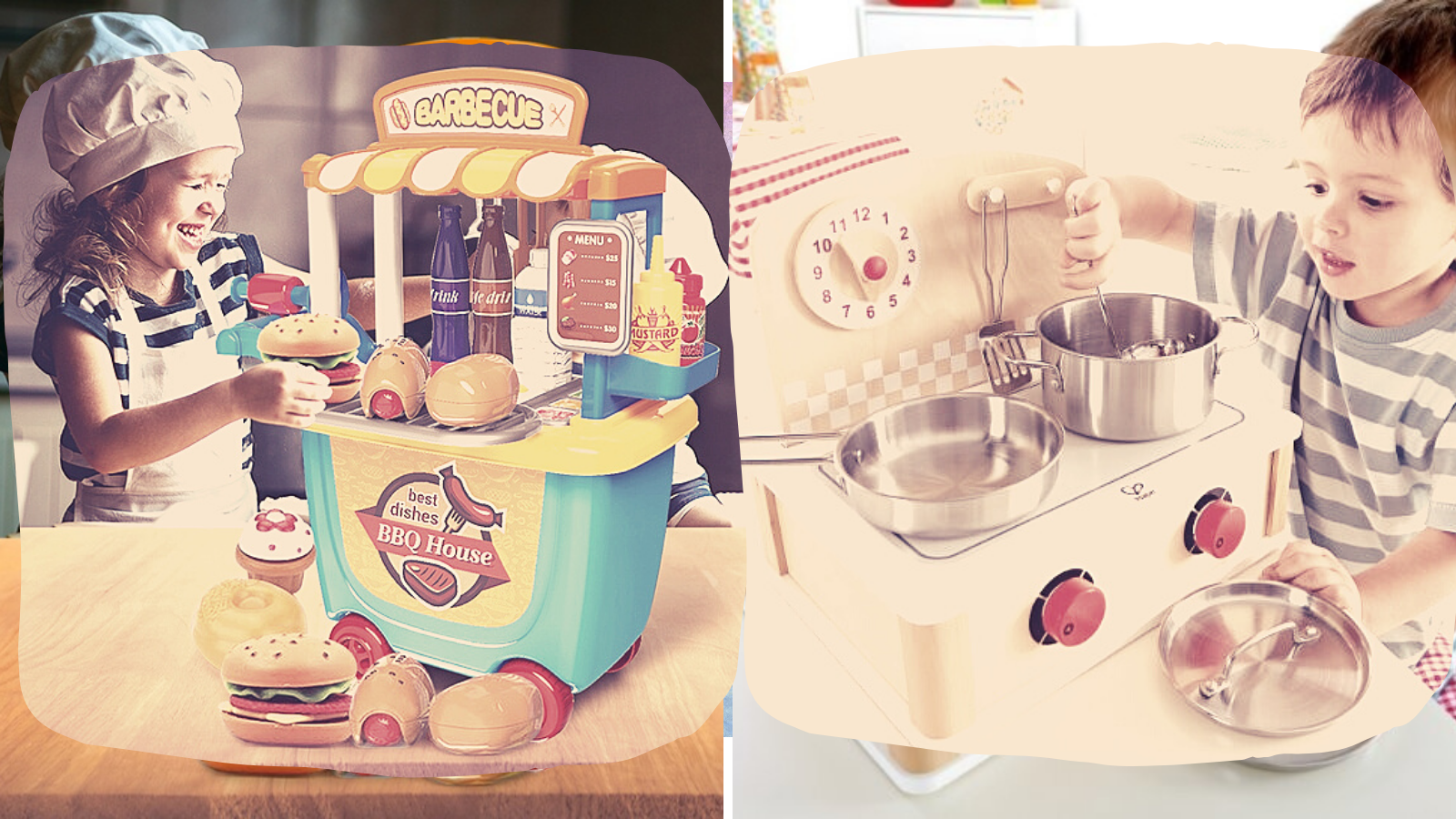 Kids play with best Kitchen sets.