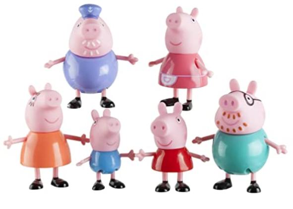 Peppa Pig & Family Figure Grandpa Granny Exclusive set of 6