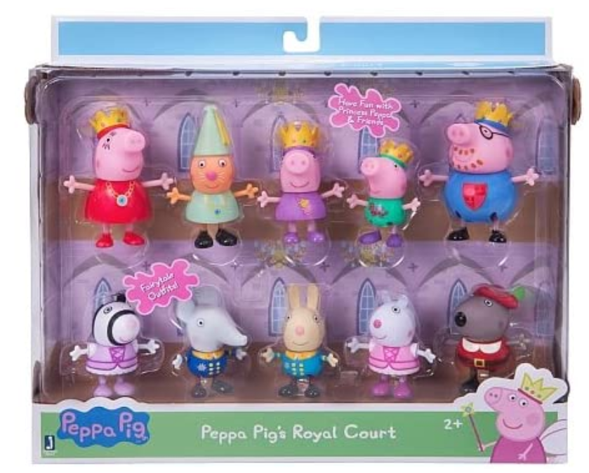 Princess Peppa Pig and Friends Royal Court Figure 10 Pack