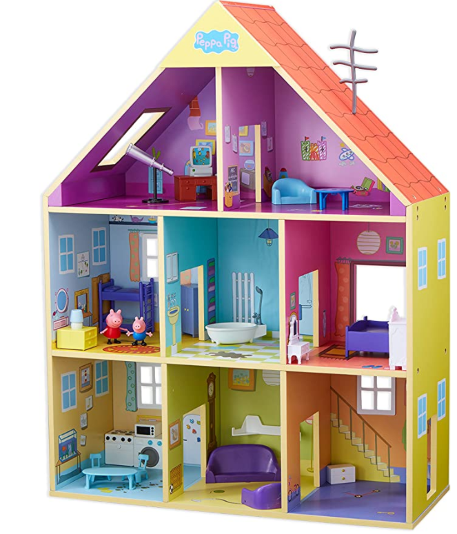 Peppa Pig CO07004 Wooden Playhouse, Multicolored