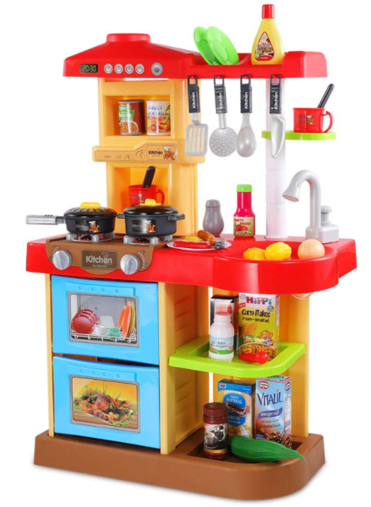 Temi Kids Kitchen Playset Pretend Food