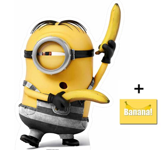 Minion Prisoner with Bananas Despicable Me 3 Minions Mini Cardboard Cutout