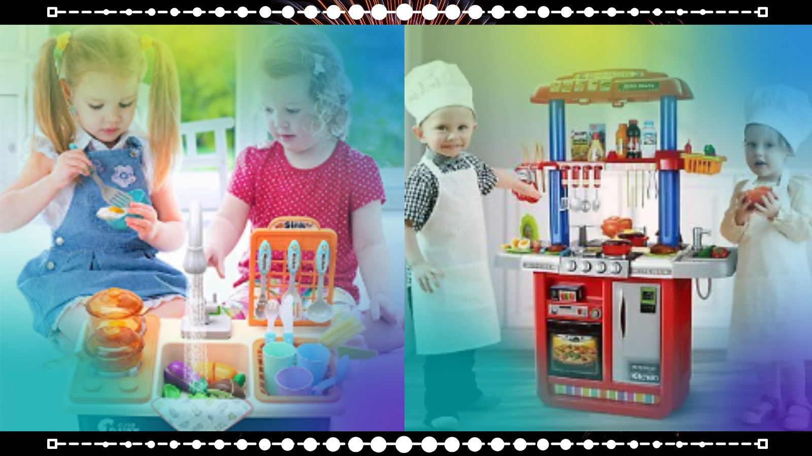 Kids playing with best Kids Kitchen Sets.