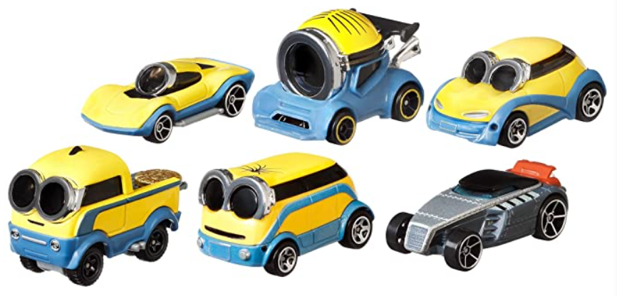 Hot Wheels ​​Minions: The Rise of Gru Bundle 6-Pack of Vehicles 1:64 Scale Character Cars