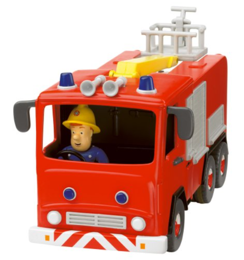 Born To Play Fireman Sam - Friction Fire Engine with Sam Figure