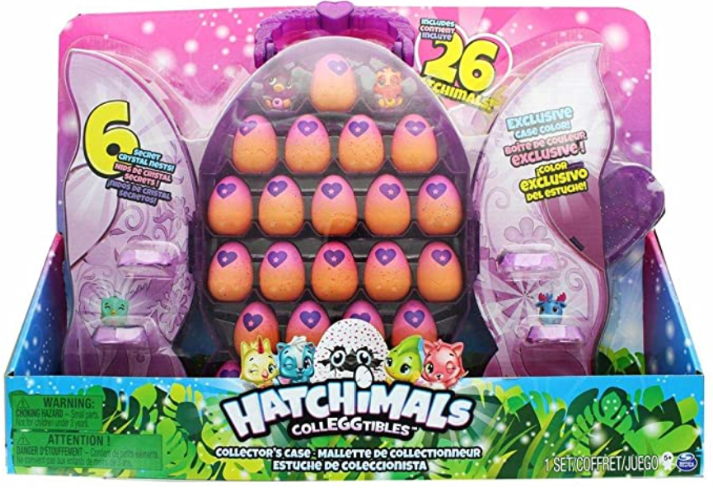 SpinMaster Hatchimals Colleggtibles Set & Glittery Purple Collectors Case.