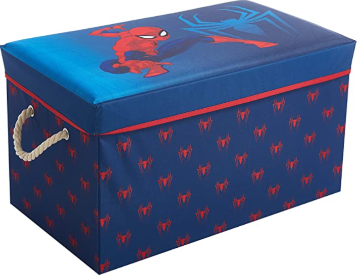 Idea Nuova Marvel Spiderman Collapsible Toy Storage Bench and Ottoman