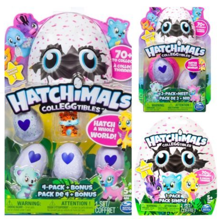 Hatchimals Colleggtibles Season 1 4-pack + bonus, 2-pack + nest, 1 blind SET (random assortment)