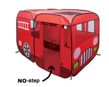 WOOHOO TOYS Big Fire Truck Tent
