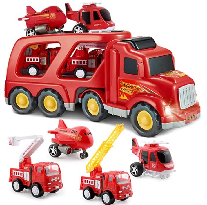 SLENPET Fire Truck Car Playset.