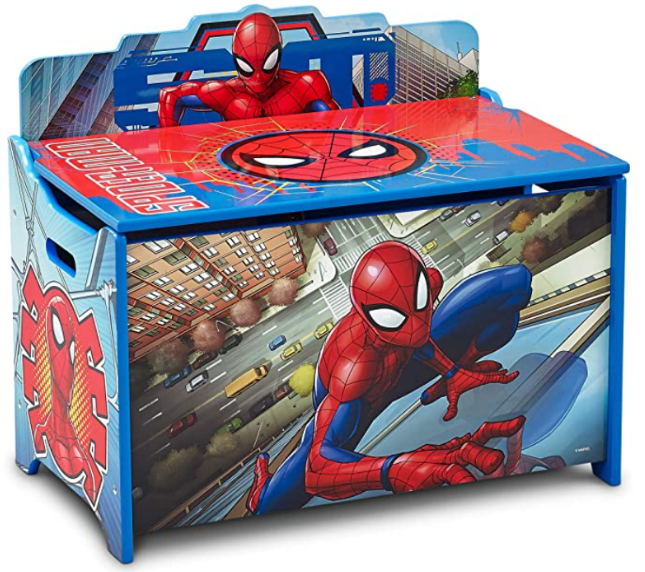 Delta Children Deluxe Toy Box, Spider-Man