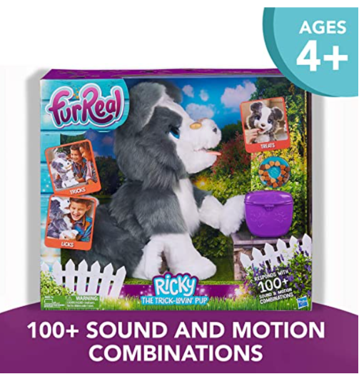 FurReal Friends Ricky, the Trick-Lovin' Interactive Plush Pet Toy