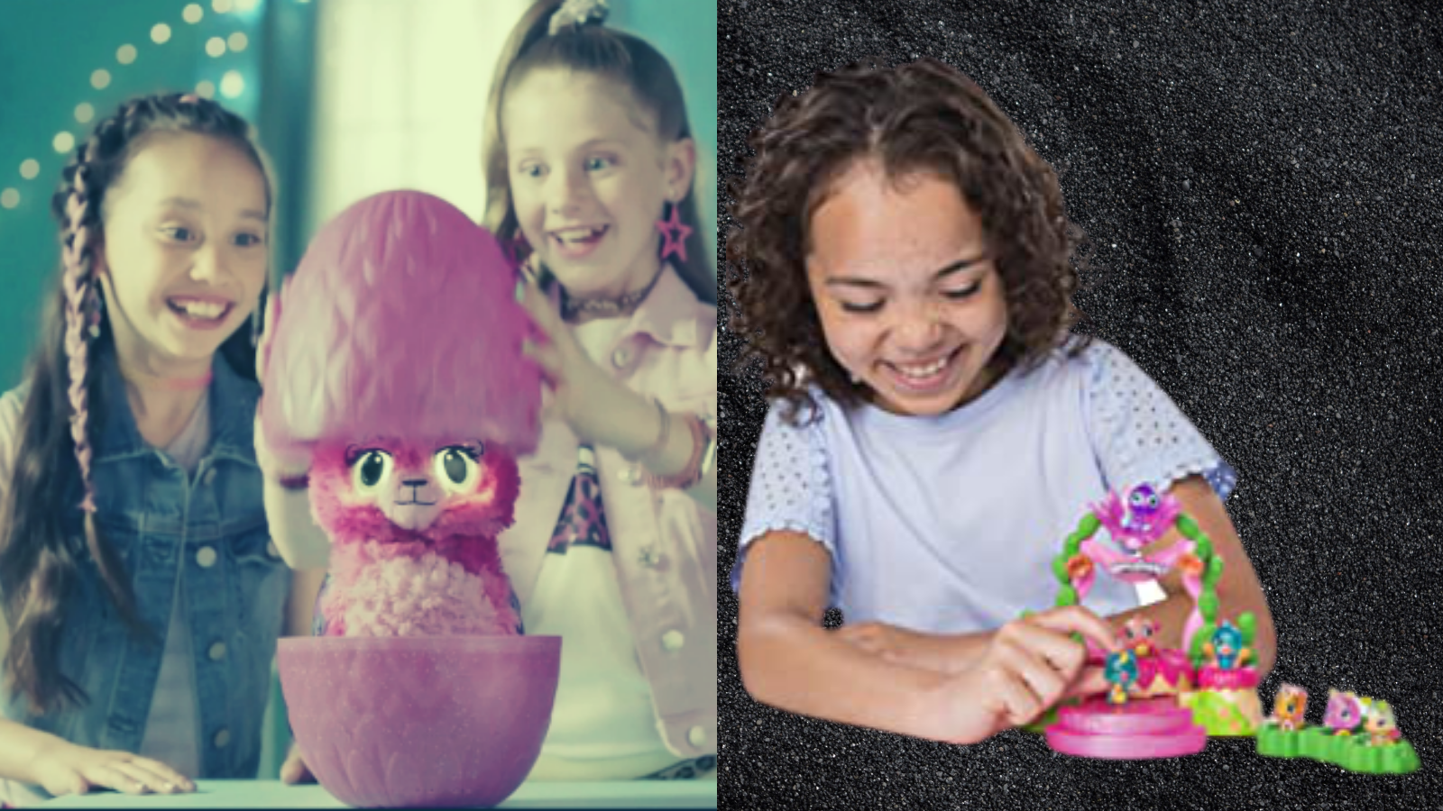 Kids playing with Best Hatchimals.