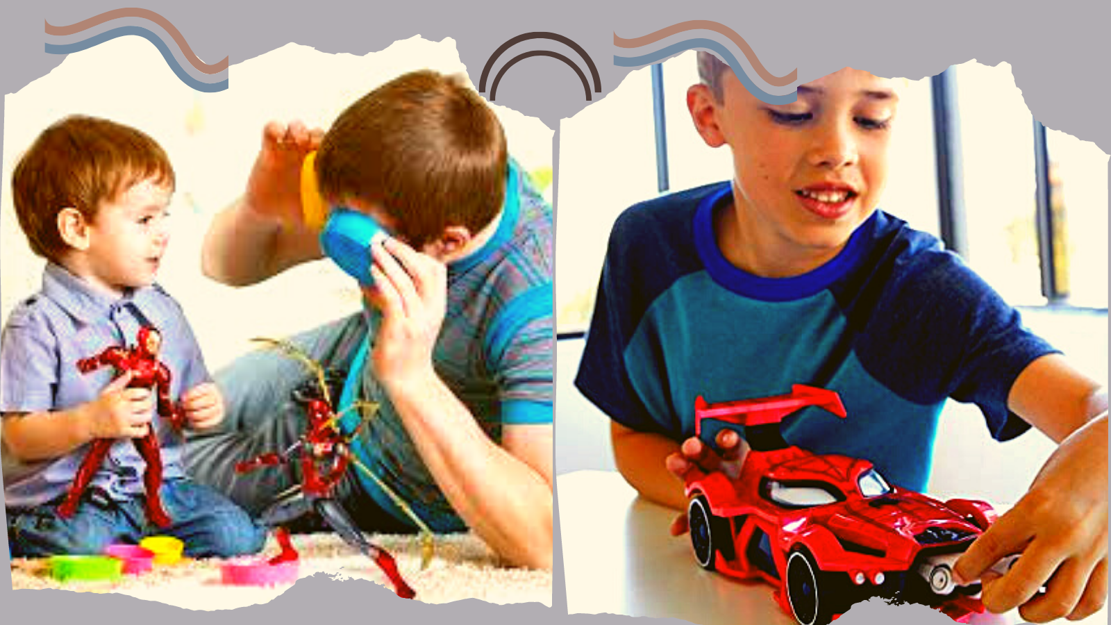 Kids Playing with Best Spiderman Toys.