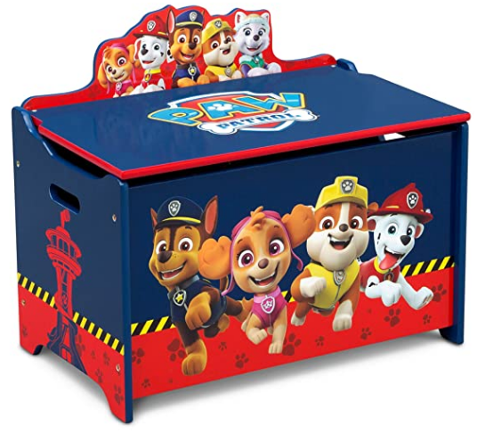 Delta Children Deluxe Toy Box, Nick Jr. PAW Patrol