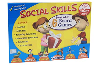 Didax 500063 Social Skills Group Activities, 6 Board Games