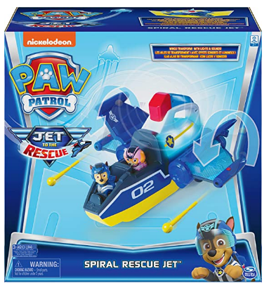 Paw Patrol, Jet to The Rescue Deluxe Transforming Spiral Rescue Jet
