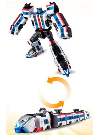 Tobot V Power Train Transforming Robot Action Figure