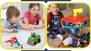 Kids playing with best Paw Patrol toys.