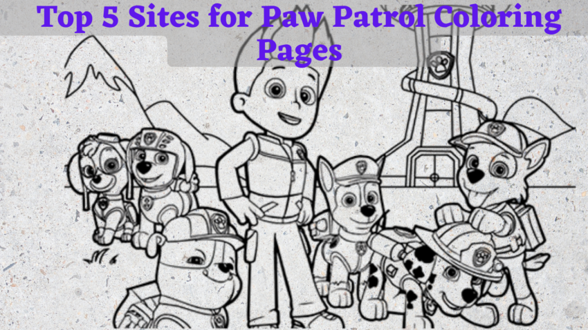 top 5 sites for paw patrol coloring pages