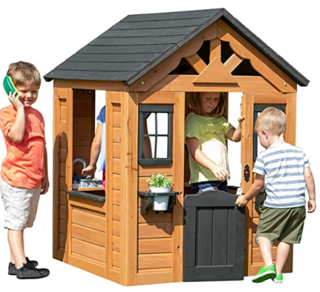 Backyard Discovery Sweetwater All Cedar Wooden Playhouse.