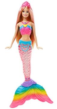 Barbie mermaid doll.