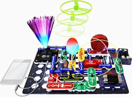 Snap circuits SCL-175 lights electronics exploration kit.