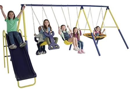 Super star swing slide set.
