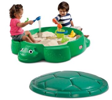 little tikes turtle round sandbox.