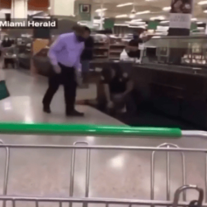 Video inside Miami Publix captures officer repeatedly punching homeless man accused of stealing chicken