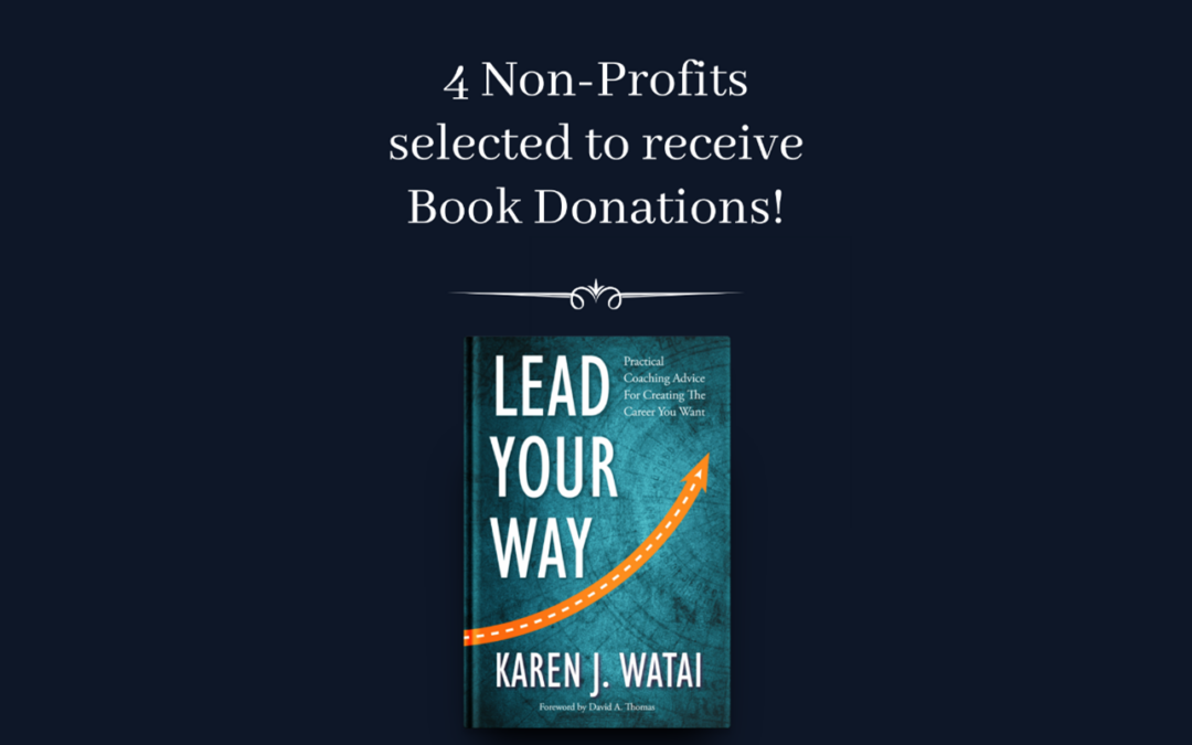 4 Non-Profits Selected for Book Donations!