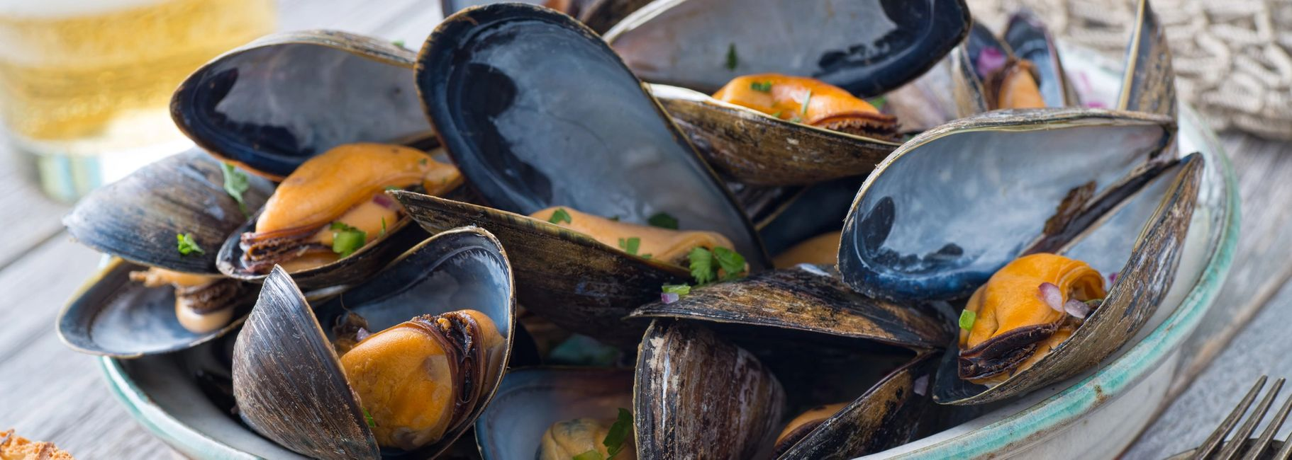 Mussels on the Half Shell with Parmesan & Garlic