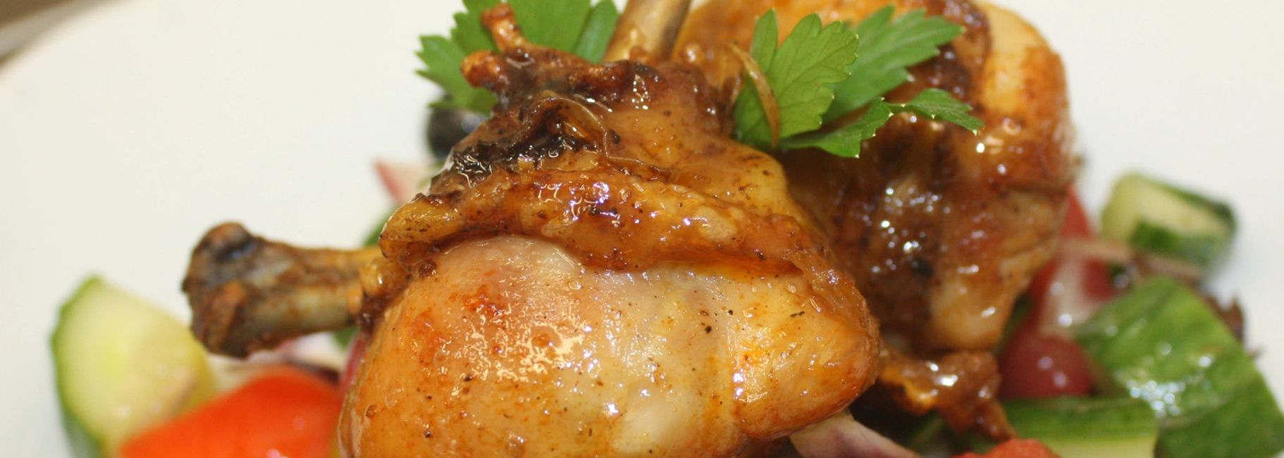 Young Chicken with Red Wine Sauce