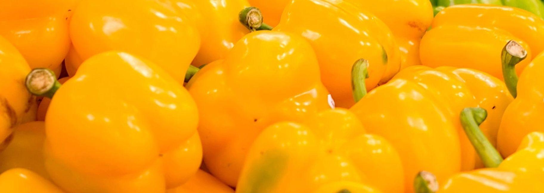 Stuffed Yellow Bell Pepper
