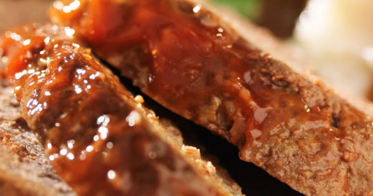 Turkey Meatloaf with BBQ Glaze