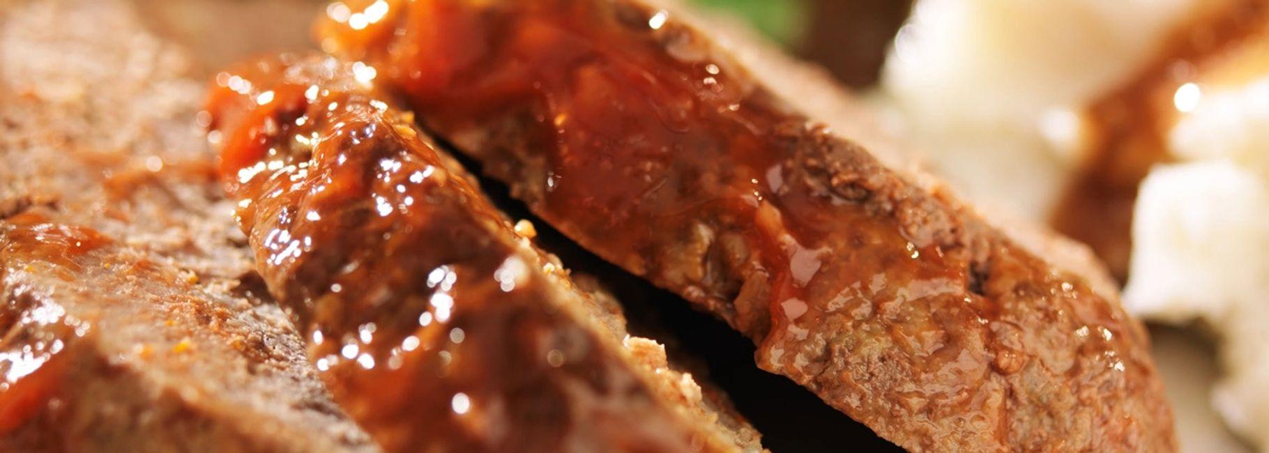Turkey Meatloaf with BBQ Glaze