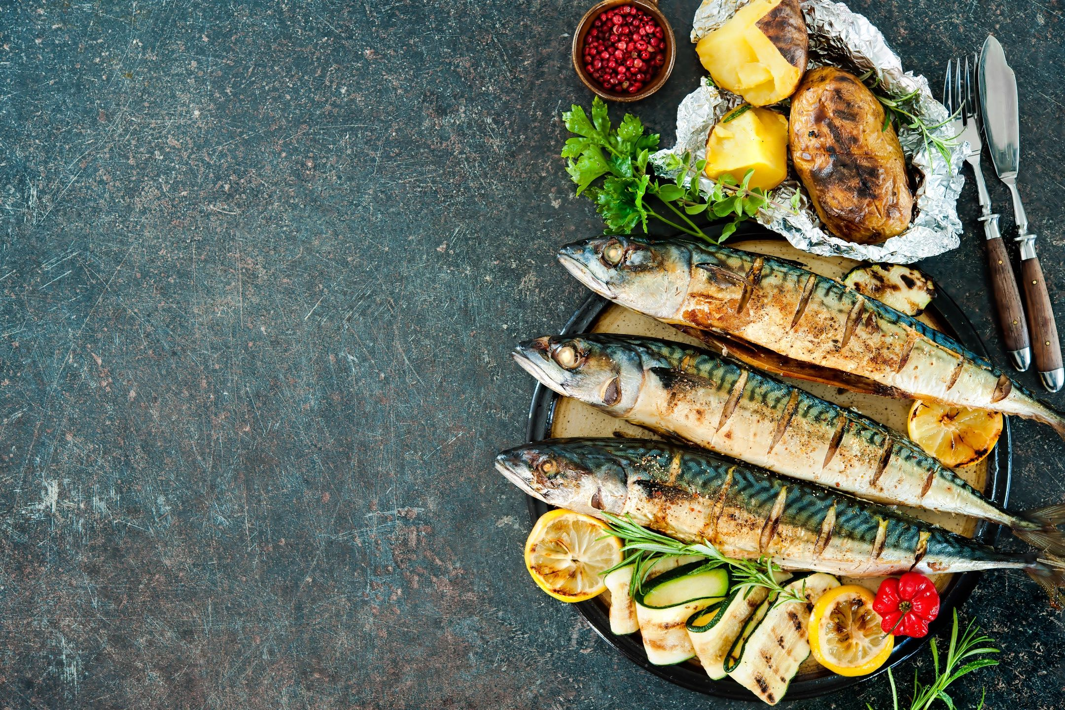Whole Roasted Fish with Herbs