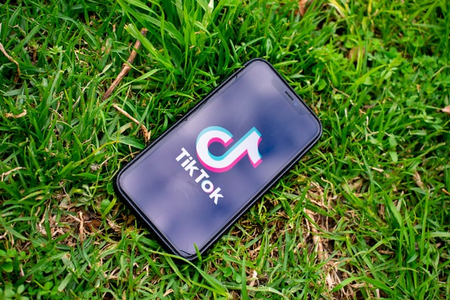 A photo showing the popular social media app, TikTok.