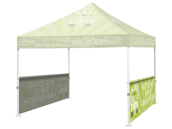 10′ Event Tent Half Wall w/Rail