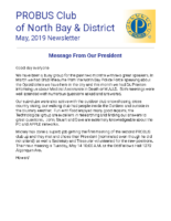 2019-04 North Bay & District newsletter