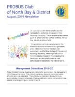 2019-08 North Bay & District newsletter
