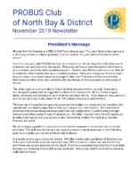2019-11 North Bay & District newsletter