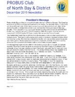 2019-12 North Bay & District newsletter
