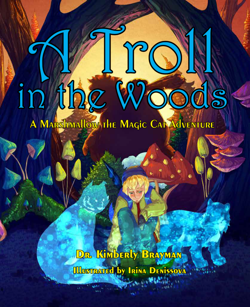 Book Cover for A Troll in the Woods, a Marshmallow the Magic Cat Adventure