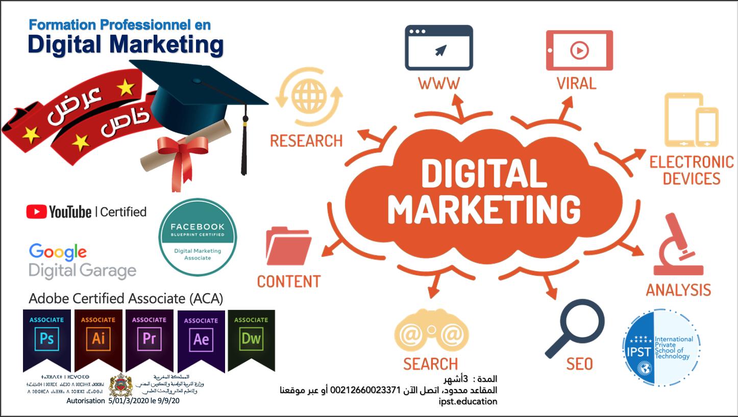 Formation Professionnel en Digital Marketing et de gestion des réseaux sociaux