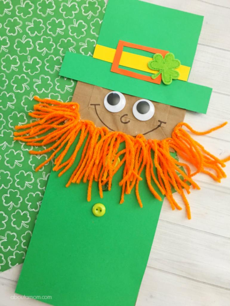 About a Mom's Leprechaun Paper Bag Puppet