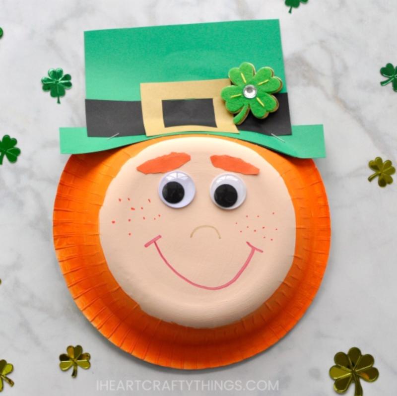 I Heart Crafty Things' Paper Bowl Leprechaun