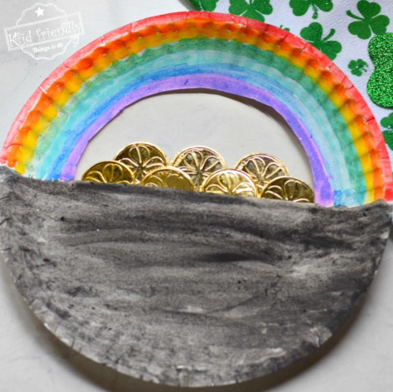Kid Friendly Things to Do's Paper Plate Pot of Gold