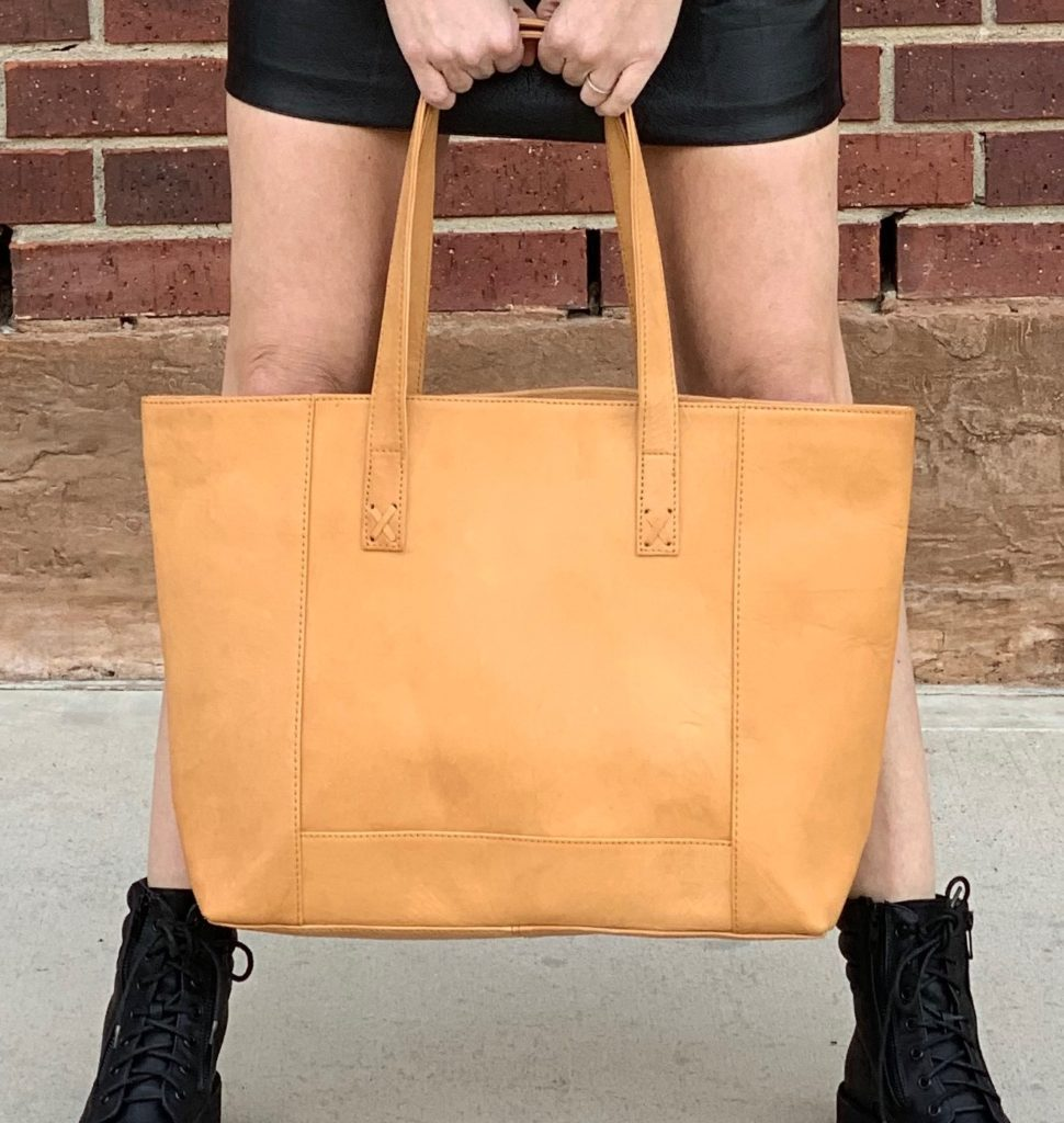 Modern Leather Tote from Noonday Collection